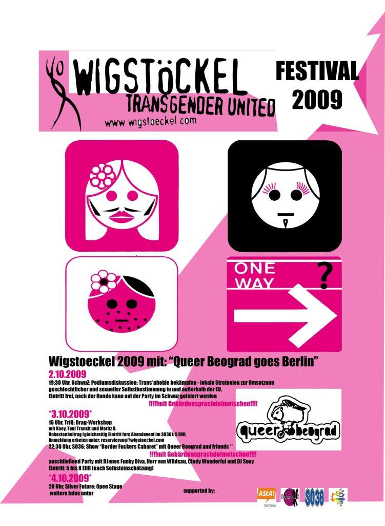 Wigstöckel goes Queer Beograd Oktober 2009